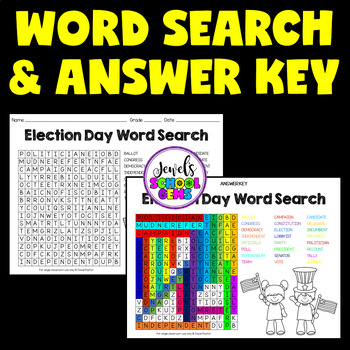 Election Day Word Search Activities