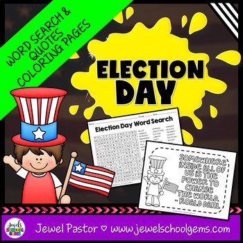 Election Day Activities (Election Day Word Search)
