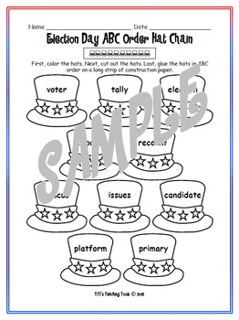 Election Day ABC Order Hat Chain