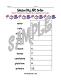 Election Day ABC Order Worksheet