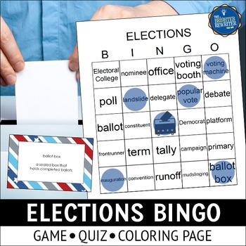 Election Day Vocabulary Bingo