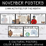 November Activities Events Posters