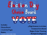 Election Day Choice Board Holiday Activities Menu Project