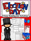 Election Day Close Reading 4 Levels Info Text w/ Activities 100% Common Core