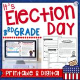 Election Day Close Reading Activities - 3rd Grade Print & Digital