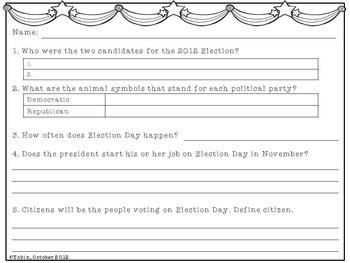 election day by jessica tobin elementary nest tpt. Black Bedroom Furniture Sets. Home Design Ideas