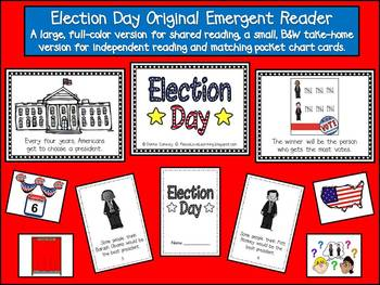 Election Day Craftivity & Emergent Reader Pack
