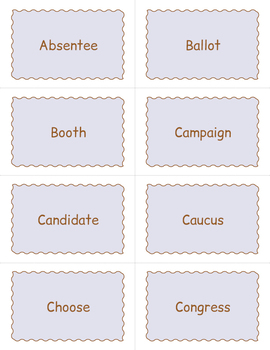 Election Day Day Bingo