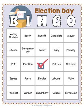 Election Day Bingo