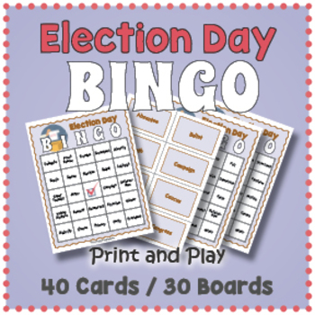 Election Day BINGO - Election Day Activity