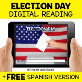 Election Day Reading Comprehension for Google Classroom -
