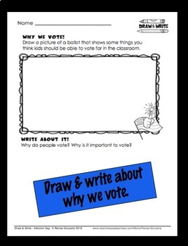 Election Day Writing Draw and Write