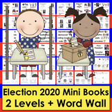Presidential Election 2020 Mini Books, Word Wall, Class El