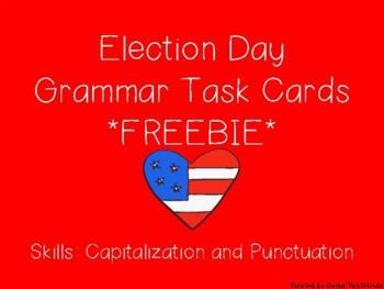 Election Day Grammar Task Cards FREEBIE