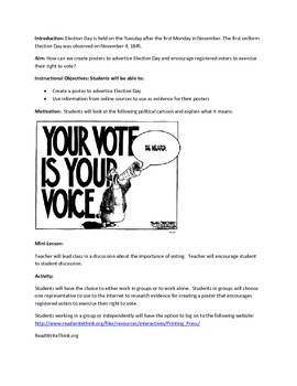Election Day Lesson Plan