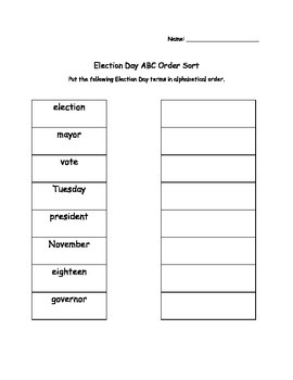 Election Day Literacy Packet