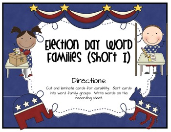 Election Day Literacy and Math Activities