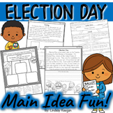 Election Day Main Idea and Details Activities