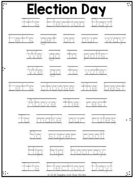 Election Day Poem Freebie