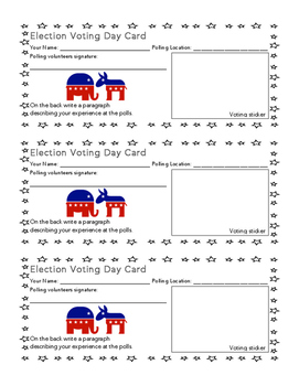Election Day Polling Experience Card