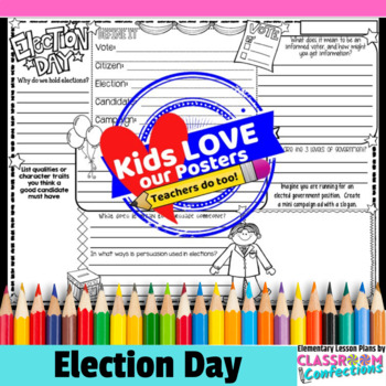 Election Day Activity Poster: Fun Election Day Writing