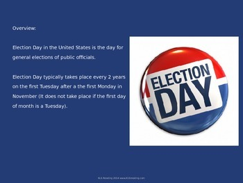 Election Day - Power Point - Full History of Election day United States
