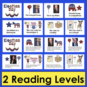 Election Day 2016 PowerPoint - 2 Levels+Illustrated Vocab Slides - Election 2016