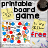 Election Day Printable Board Game FREEBIE - for Any Skill