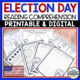 Election Day Reading Comprehension Pack   Presidential Election 2020
