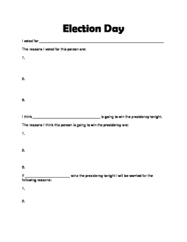 Election Day Reflection