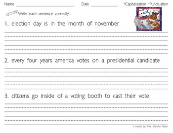 Election Day Sentences