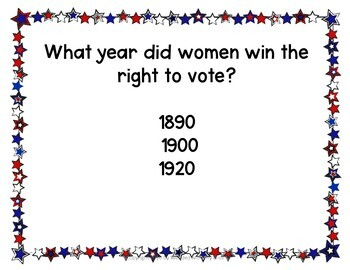 Election Day Slideshow Trivia about the Presidents and the Election