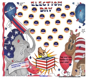 Election Day Smartboard Attendance file FREE!