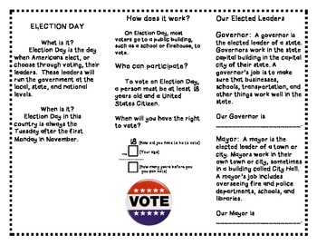 Election Day Trifold