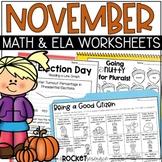 Election Day, Veterans Day, Thanksgiving: November-themed