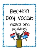 Election Day Vocab Activities
