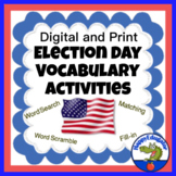 Election Day Vocabulary and Writing w/ Easel Activities Distance Learning
