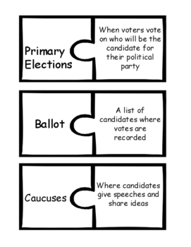 Election Day Vocabulary Puzzles