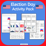 Election Day Voting Vocabulary Activity Pack NO PREP