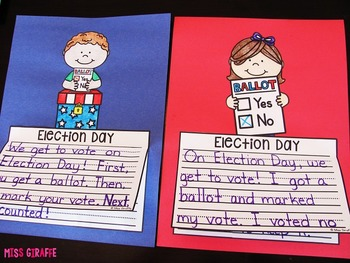 Election Day Writing Craft Activities