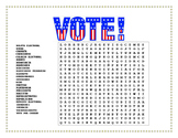 Election Day in Spanish- Word Search and Double Puzzle