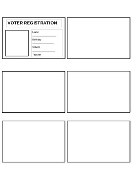 Election Day voter registration cards