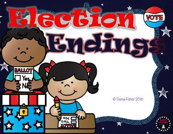 Election Endings Fall File Folder Game Center