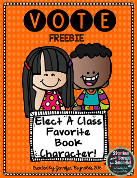 Election Freebie--Favorite Book Character Voting Pack