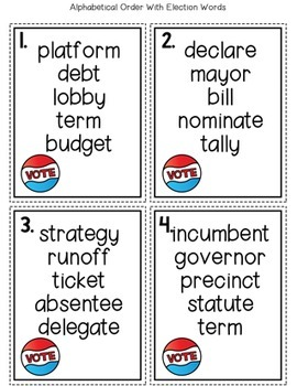 Election Math and Literacy Pack {Fun with Grace and Duck}
