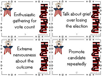 HINK PINKS HINKY PINKIES et al. Election Theme Critical Thinking Vocabulary GATE