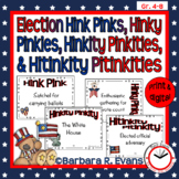 HINK PINK et al. PUZZLES Election Word Riddles Task Cards Vocabulary GATE
