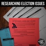 Election Issues: FREE Research Project & Presentation for Secondary ELA