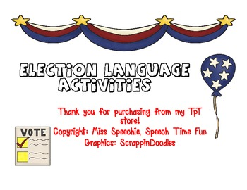 Election Language Activities