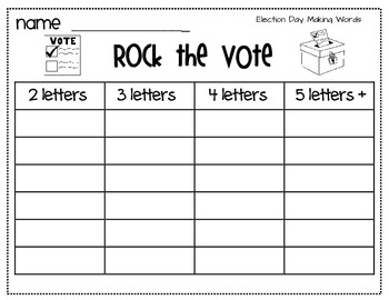 Election Literacy Center Freebie